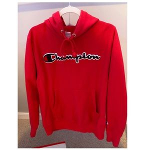 Red Men's champion hoodie